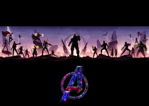2010's Movie - THE AVENGERS - INFINITY WAR MINIMAL / canvas print - self adhesive poster - photo